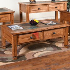 <strong>Sunny Designs</strong> Sedona Coffee Table with Slate Top