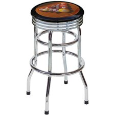 "Pool 30.5"" Backless Chrome Swivel Barstool"