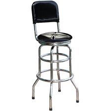 "Iron Cross 30.5"" Swivel Bar Stool"