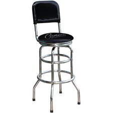 "Chevrolet Camaro Script 30.5"" Chrome Swivel Barstool"