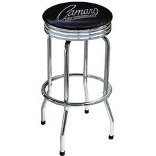 "Chevrolet Camaro Script 29.5"" Chrome Swivel Barstool"