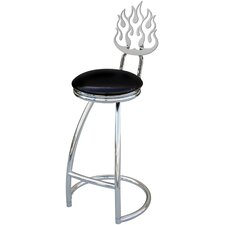 "Flames 30"" Swivel Bar Stool"
