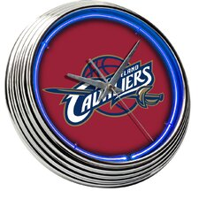 "NBA 14.75"" Cleveland Cavaliers Red Neon Wall Clock"