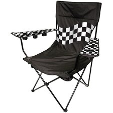 Outdoor King Pin Folding Chair in Black / White