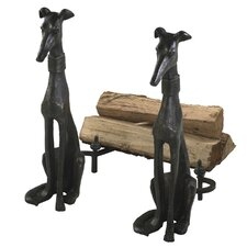 <strong>Cyan Design</strong> 2 Piece Dog Andirons Figurine
