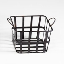 Grocery Baskets in Raw Steel
