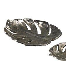Large Cast Tropical Leaf Decorative Bowl