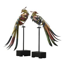 2 Piece Bird Figurine Set