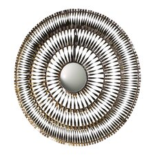Spiral Mirror in Silver and Gold