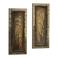 2 Piece Botanica Wall Art Set in Forest