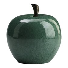 Ceramic Apple Figurine in Jade