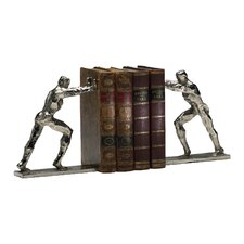 Iron Man Bookends in Silver