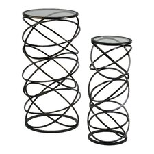 Spiral End Table (Set of 2)