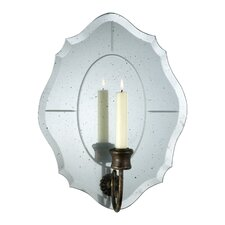 Iron and Mirrored Glass Bonnet Wall Sconce