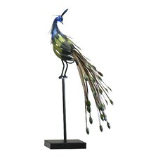 Peacock on Stand Figurine