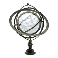 World Globe in Antique Flemish Sculpture