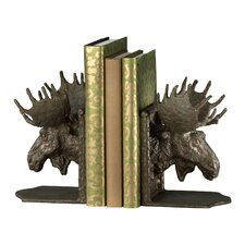 Moosehead Bookends in Bronze