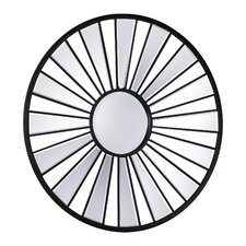 Segment Round Mirror in Old World