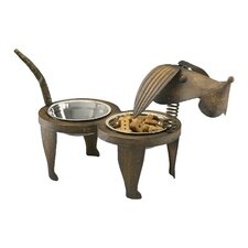 Rex Pet Feeder in Pecan
