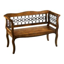 Jordan Wood and Iron Garden Bench