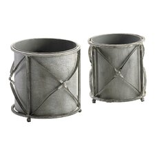 Sheldon Round Planters (Set of 2)
