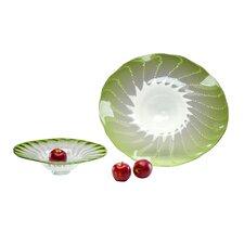 Large Art Glass Fruit Bowl