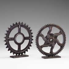 Gear Sculpture 4 in Bronze
