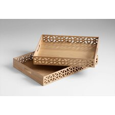 Rectangular Xoxo Trays in Ash Veneer