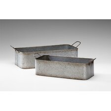 Camden Containers in Rustic Iron (Set of 2)