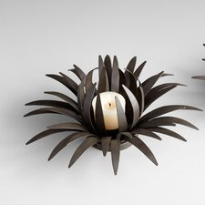 Large Cacti Flower Candleholder in Graphite