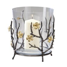 Large Botanica Candle Holder in Raw Steel and Gold