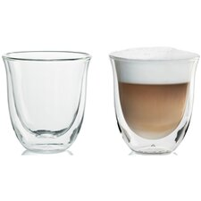 <strong>DeLonghi</strong> Cappuccino Glasses (Set of 2)