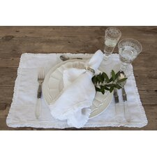 Charlie Placemats in White (Set of 4)