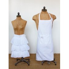 Audrey Cotton 2 Piece His/Hers Apron Set