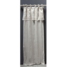 Classica Tie Top Linen Voile Curtain Single Panel