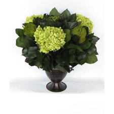 Metal Trophy Small Vase with Brunia, Banksia and Hydrangea