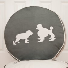 Cosmopolitan Heels and Boots Round Dog Pillow