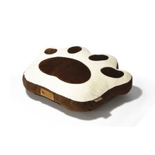 Big Foot Pillow Dog Bed in Chocolate / Cream