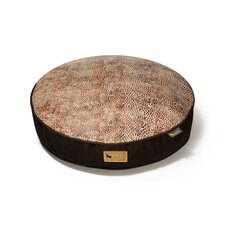 Safari Savannah Round Dog Bed in Sepia / Dark Chocolate