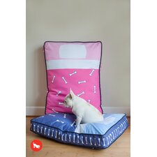 Utopian Tuck Me In Rectangular Dog Bed in Hot Pink / Powder Pink