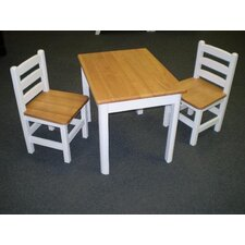 Just For Kids 3 Piece Table and Chair Set