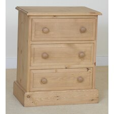 Copshall 3 Drawer Bedside Table