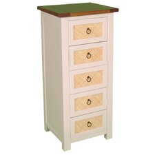 Havana Chest of 5 Narrow Drawers