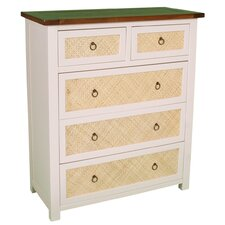 Havana 2 Over 3 Drawer Chest