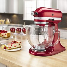 Artisan Design Series 5-Quart Stand Mixer with Glass Bowl