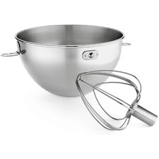 2 Piece 3 Qt. Stainless Steel Bowl and Combi Whip Set for Bowl-Lift Stand Mixers