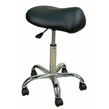 <strong>Oakworks</strong> Professional Saddle Stool with Chromed Steel Base