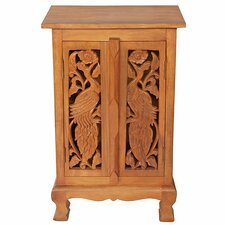 "Acacia 19"" Exotic Peacocks Storage Cabinet"