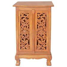"Acacia 19"" Flower Vines Storage Cabinet"