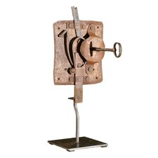 Primitive Lock on Stand Figurine